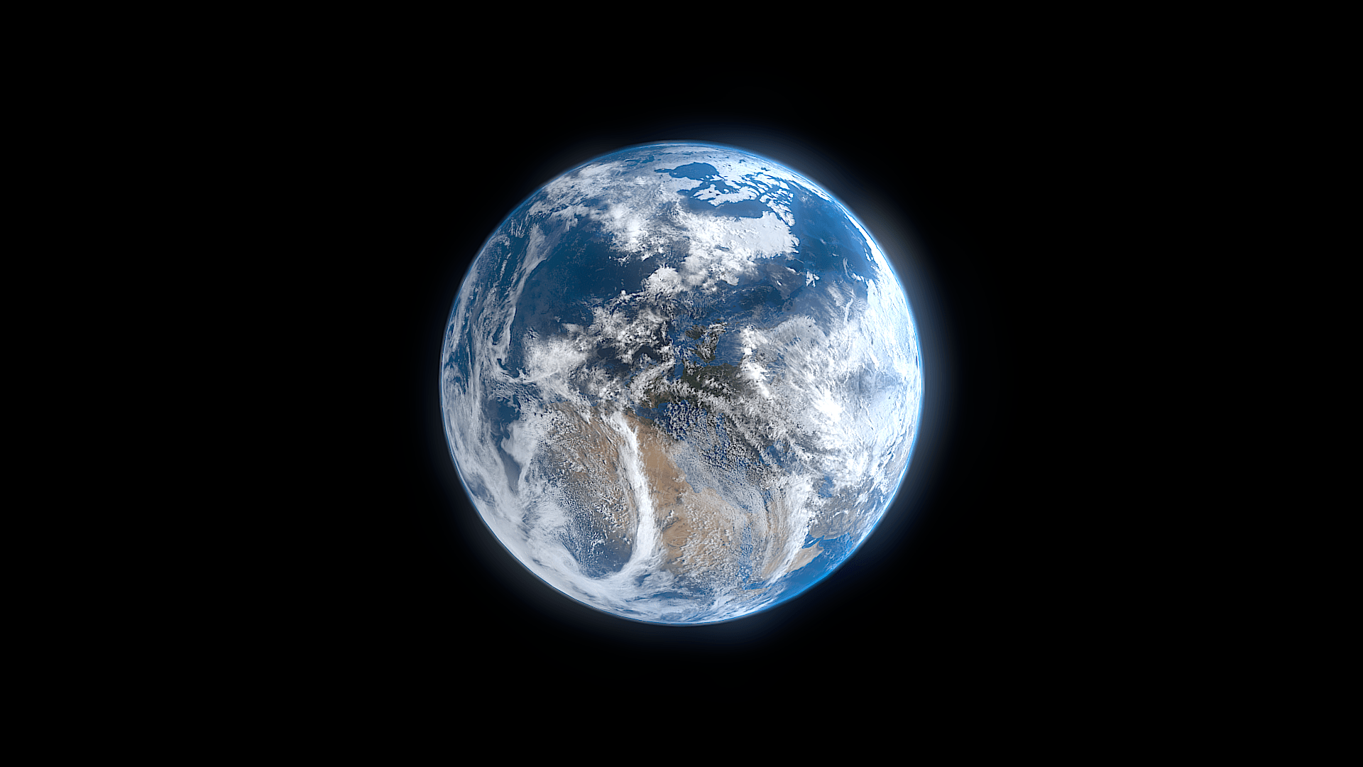 Photo - Blender - Rendering Earth