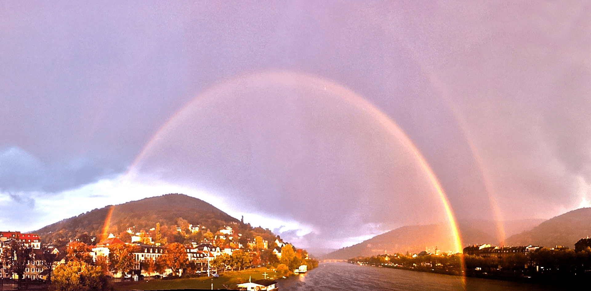Photo - Rainbow over Heidelberg