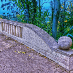 photo - streetart heidelberg czerny bridge chalk dimension blue hdr back
