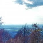 Ehrenfriedhof Heidelberg - Panorama - Blick über das Rhein-Neckar-Delta