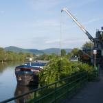 Neckar Ufer Edingen-Neckarhausen Hafen