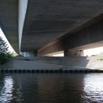 Neckar Ufer Heidelberg Autobahnbrücke