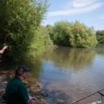Neckar Ufer Angler